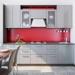 Red Matt kitchen splashback