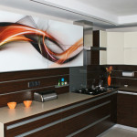 Swirly Stripes kitchen cupboard