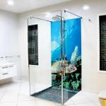 Giant Turtle bathroom tiles