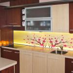 Flowery kitchen LED splashback