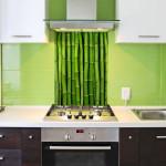 Bamboo kitchen splashback & tiles