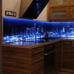 City at Night kitchen LED splashback 2