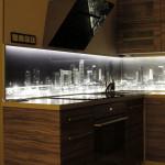 City at Night kitchen LED splashback 1