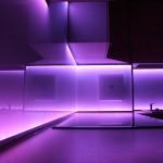 Ultra Violet LED lights in kitchen