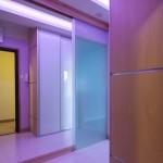 Violet wardrobe doors with LED backlight