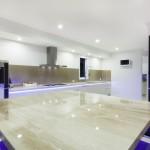 White Glossy kitchen LED lights