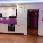 Heather & White kitchen with LED backlight